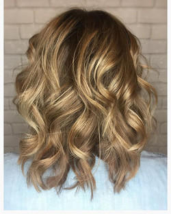 #flirtyandfun A fresh shoulder length cut n color refresh finished with some soft curls
