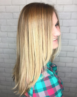 BBB Beautiful Babylights & Balayage for this cutie. Finished her look with a trim to keep her ends h