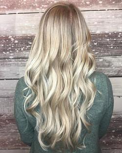 Long light icy blonde hair