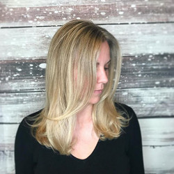Another gorgeous gal with gorgeous hair by our very talented Nicole!  Book your spot with her (408)