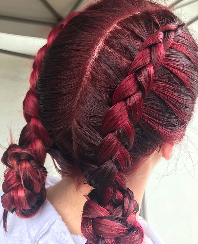 #braidedbeauty This gorgeous color and fun braid was done by our very talented Nicole