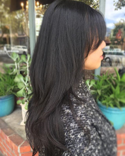 Gave a fun layered #haircut to my beautiful friend _hsingchen ❤️ Lovin this cool weather and ready f