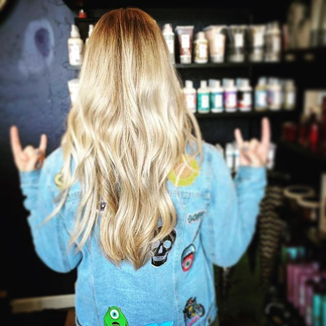Rollin outta Wednesday like YEAH!!! 🤘__Hair by Emma _hairbyemdub_ #hair #hairstyle #instahair #soci