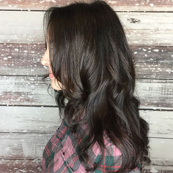 #hairgoals Mixing long beautiful layers throughout with a short textured fringe around the face is j