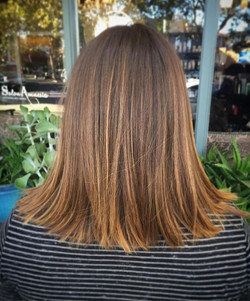 Lightly Textured Cut & Balayage by Jennessa (408) 395-8120 _#hairstyles #cut #texture #texturedlob #