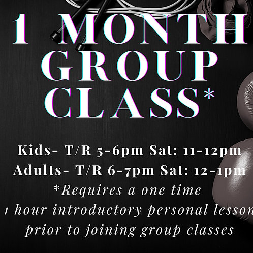 One Month Group Classes