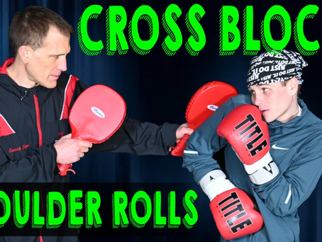 Learn how to cross block and roll with punches