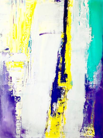 "Original Abstract Art On Canvas 36""x24"""