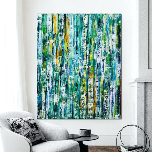 """Abstract large painting on canvas 60""""x48"""""""