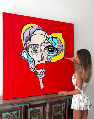 Contemporary surreal abstract art painting