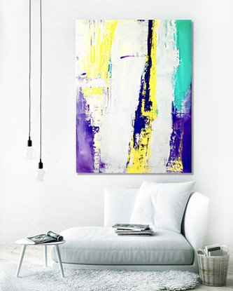 """Abstract painting on canvas 36""""x24"""""""