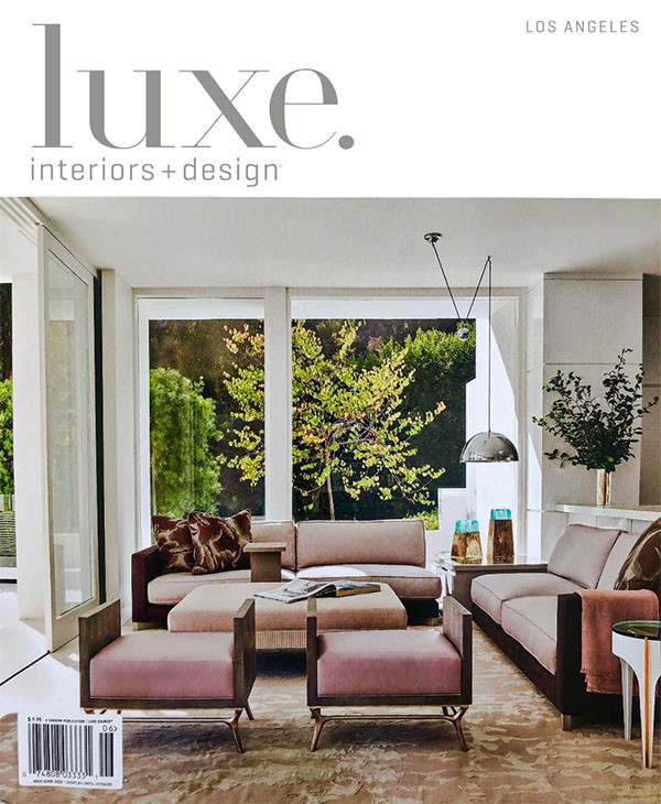 LUXE Interiors+Design Los Angeles May/June 2020 LUXE Magazine showcases luxury residential architecture, design and interiors