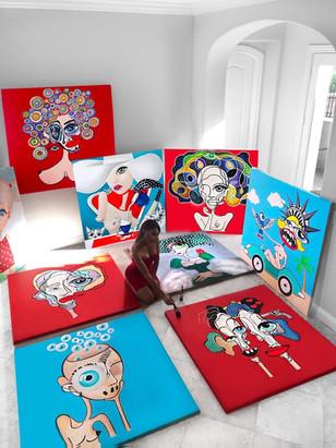 Art gallery modern contemporary art los angeles | Handmade paintings on canvas