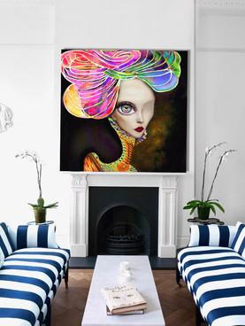 SOLD - Surreal modern artwork on canvas