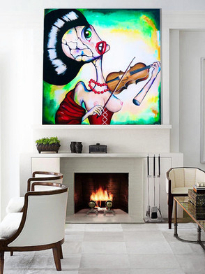 "Acrylic painting on canvas 48""x48"""