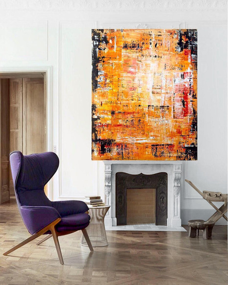 Large Abstract Painting In The Living Room