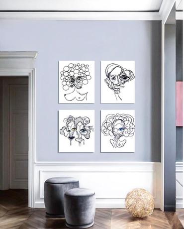 Acrylic paintings on canvas
