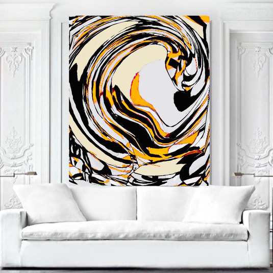 SOLD - Large Abstract modern art painting on canvas