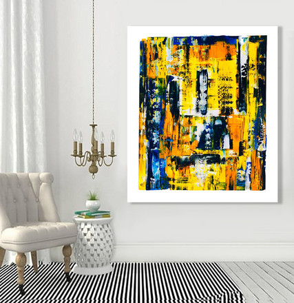 """Abstract painting on canvas 60""""x48"""""""