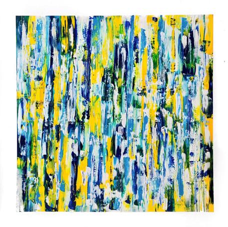 "Original Abstract Art On Canvas 48""x48"""