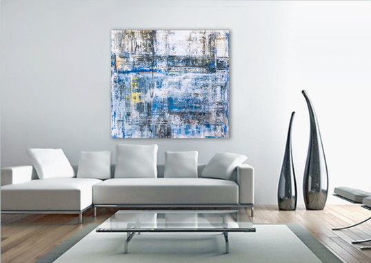 Large Abstract Painting In The Contemporary Living Room