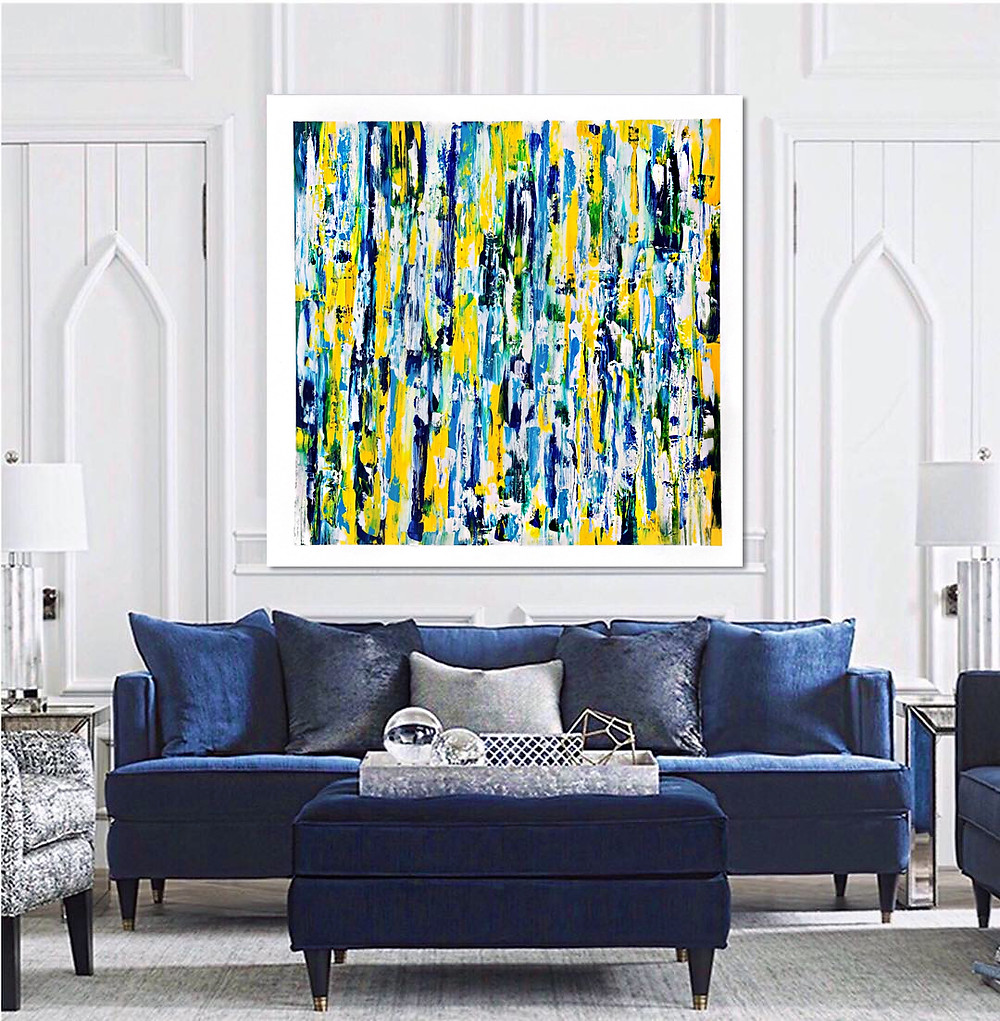 Beautiful painting with vibrant colors that will make your room a bright new look.