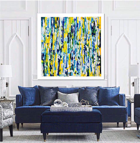 """Abstract acrylic painting on canvas 48""""x48"""""""