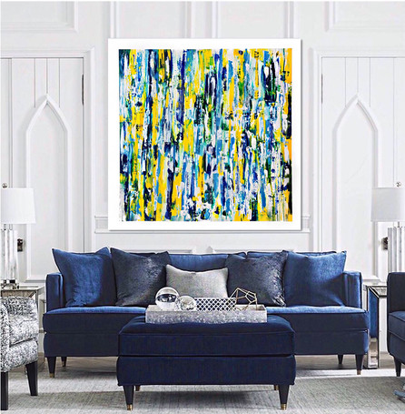 Large Abstract Painting In The Room