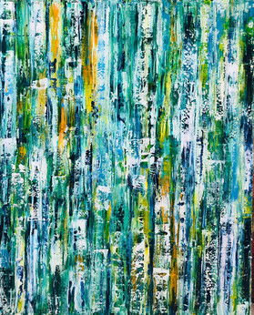 "Original Abstract Art  On Canvas 60""x48"""