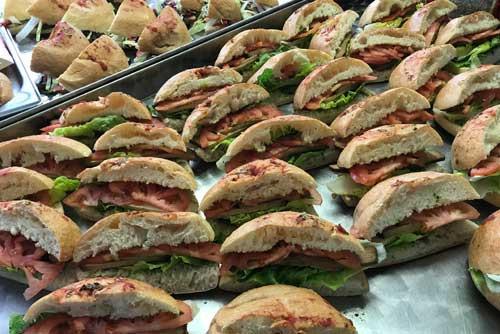 Knackig frisches Sandwich