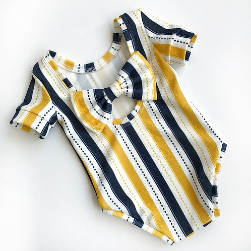 LIMITED EDITION mustard and navy stripe