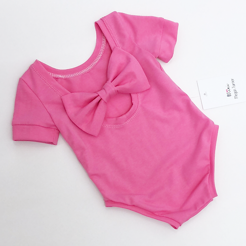 Plain Bow Back Bodysuit