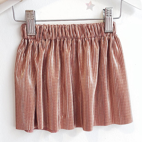 Mama and mini Rose gold pleated skirt