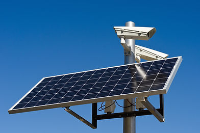 surveillance camera with power from a so