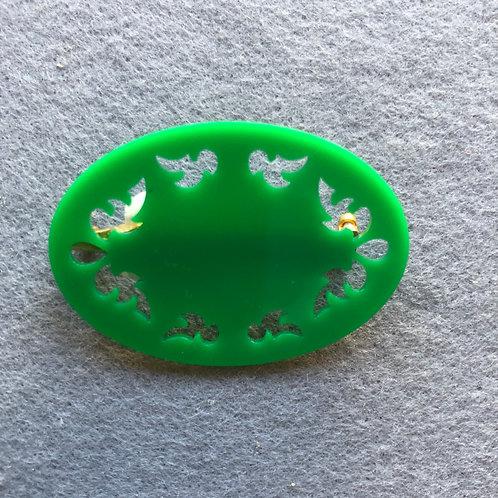 ブローチFL18-G グリーン