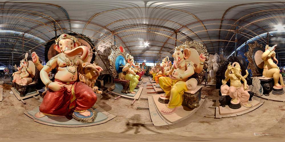 Ganpati idol making workshop in Mumbai. Photo by Ashesh Shah