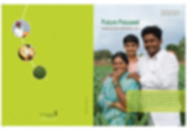 Photo of a Happy farmer family reflects the performance of Monsanto India.