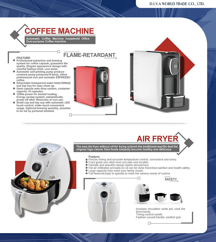 D.I.V.A WORLD TRADE-China-Vietnam-manufacturer-ELECTRONICS-HOME APPLIANCES-KITCHEN APPLIANCE-CLEANING APPLIANCE-TECHNOLOGY-BALANCE SCOOTER-DIGITAL PRODUCTS