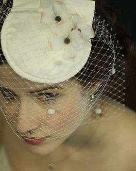 The Le Tigre Silk Hat with Veil $90