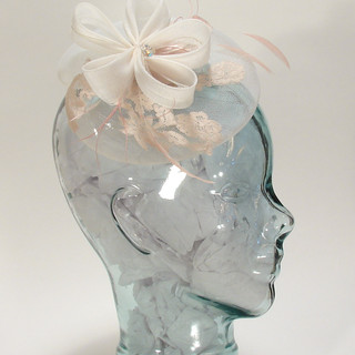 A crin fascinator with lace. $62