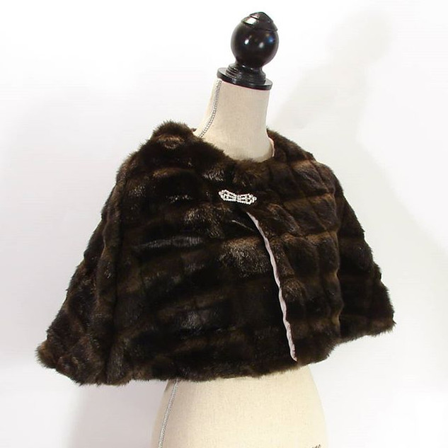 The Faux Fur Capelet $150
