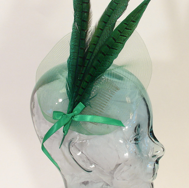 Green Striking Crin Fascinator  $58