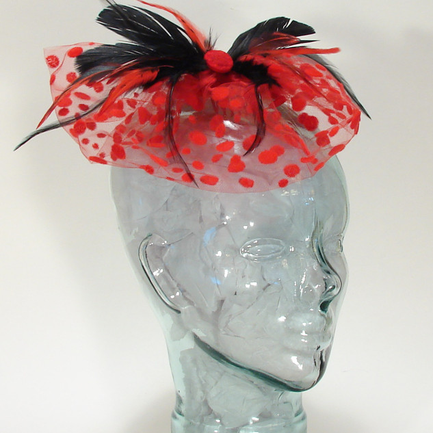 Flocked Tulle Fascinator $48
