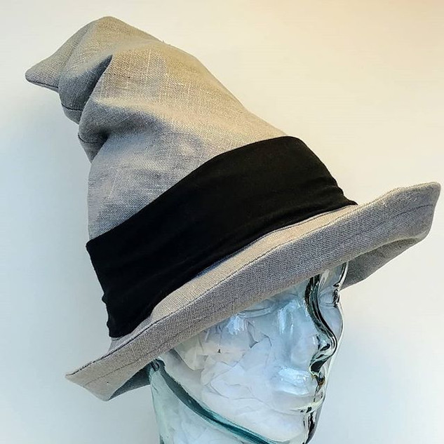 The Alchemist Hat in Grey Linen $58