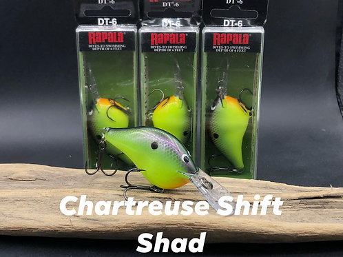 Rapala Dt6- Chartreuse Shift Shad