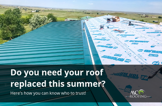 MC Roofing postcard campaign