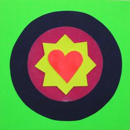 Green heart card