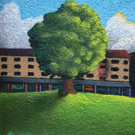 Mural detail by Gage Graphics