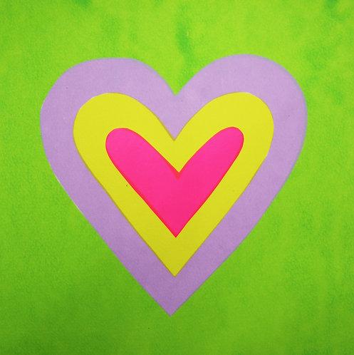 Green Layer Heart