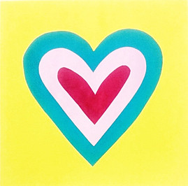 Heart Layered Screenprint